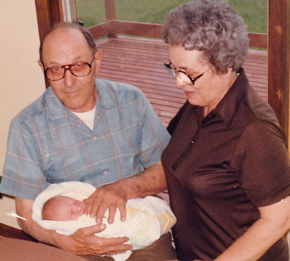 One last picture. Here's Grandpa and Grandma, taking care of me before I even knew there was a me. Although they've both passed away now, I'm incredibly grateful for the years of memories.