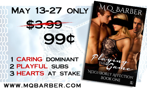 Playing the Game (Neighborly Affection #1) 99-cent sale banner
