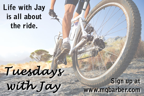 Tuesdays with Jay general teaser image of Jay biking