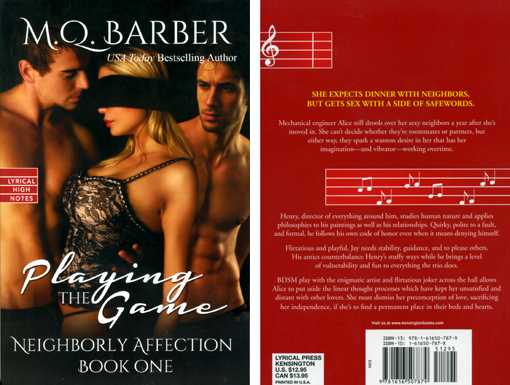 Playing the Game (Neighborly Affection #1) Lyrical High Notes trade paperback edition