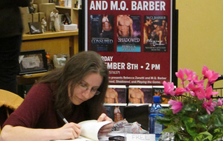 M.Q. Barber at her first author signing in 2014.