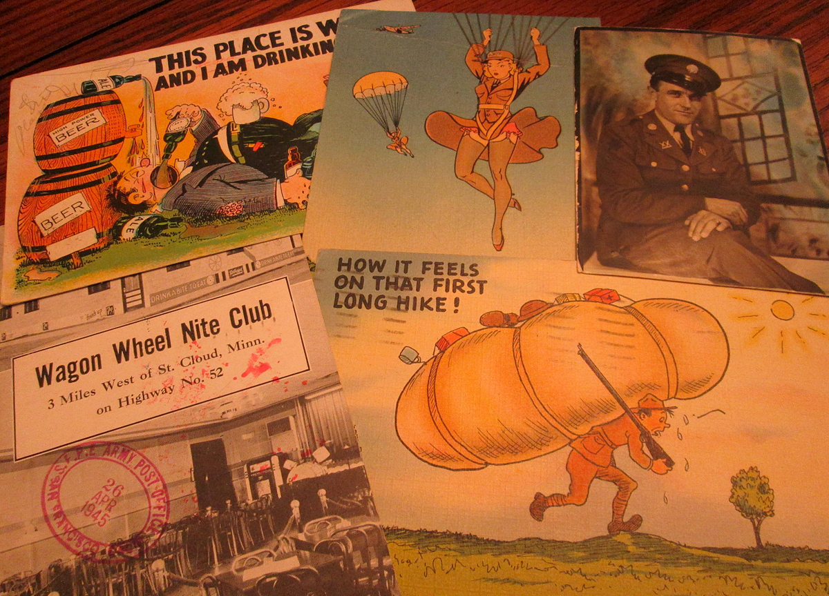 World War II postcards and photo