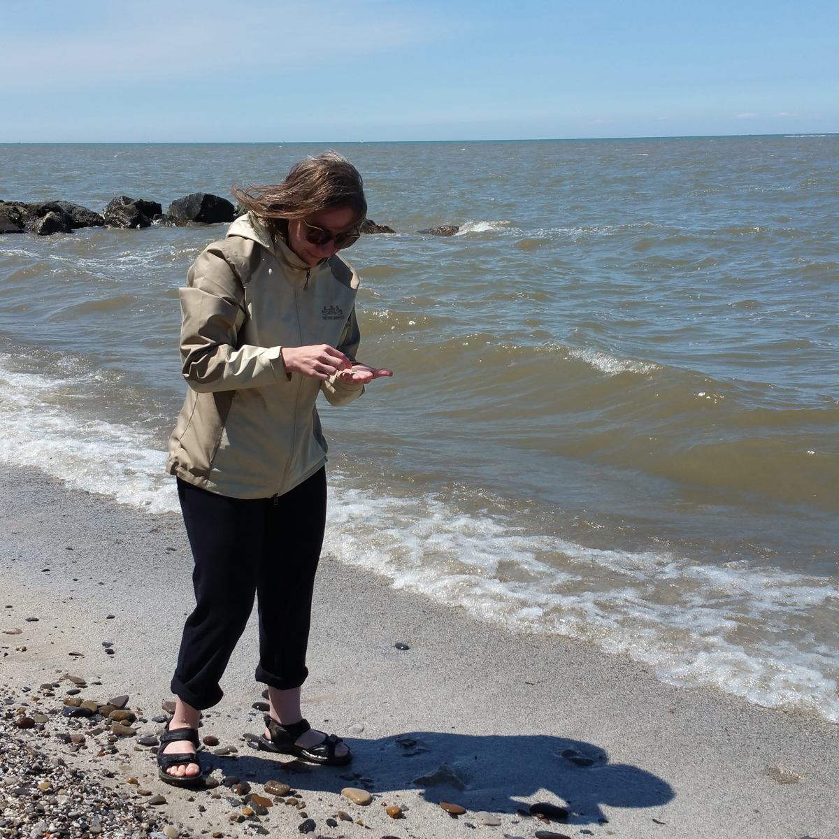 Hunting for sea glass