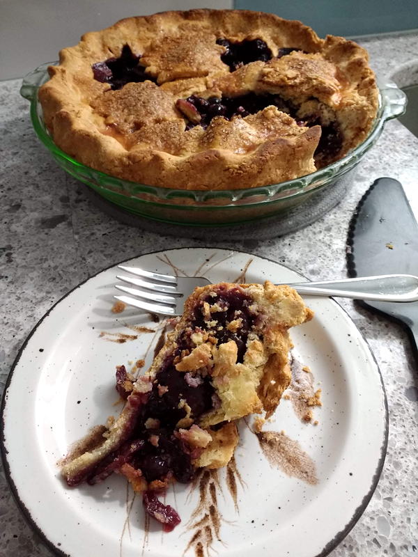Mmmm, pie. The perfect companion for a romance novel.