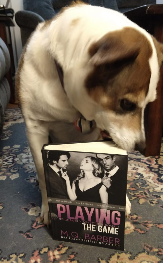 The puppers decides that Neighborly Affection hardcovers are not chew toys.